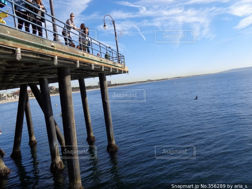 風景,空,海外,世界の絶景,太陽,ビーチ,雲,青空,青,アメリカ,ロサンゼルス,カリフォルニア
