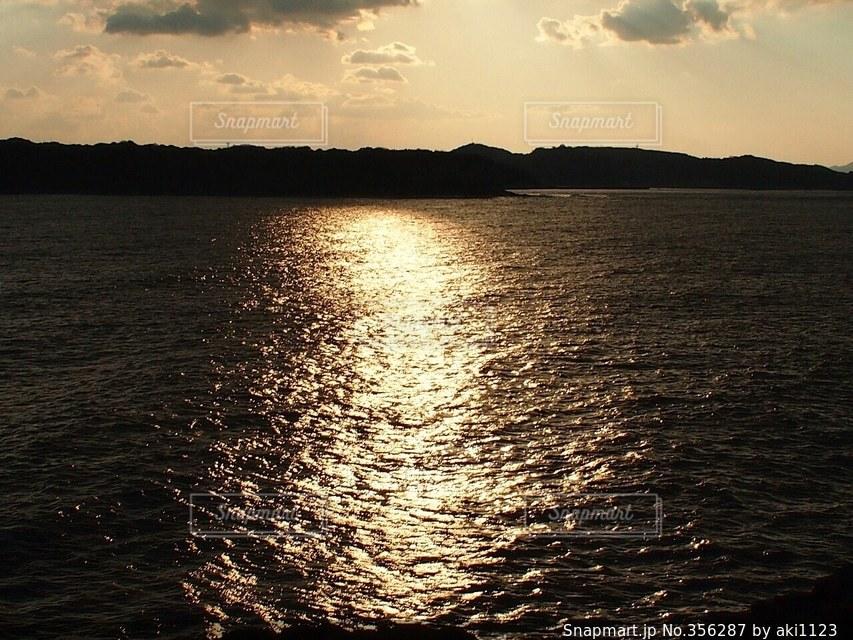 海,夕日,波,旅行
