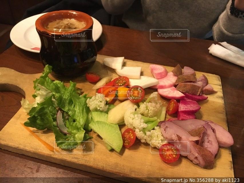 ランチ,野菜,美味しい,彩,ベジタブル,バーニャカウダ