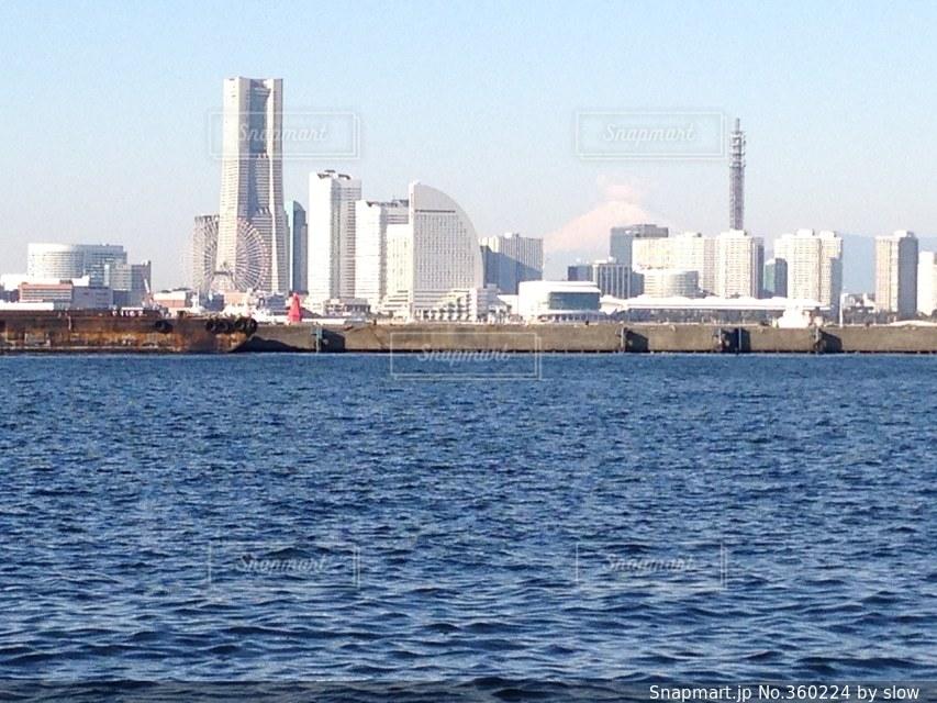 海,富士山,きれい,景色,みなとみらい,大黒ふ頭