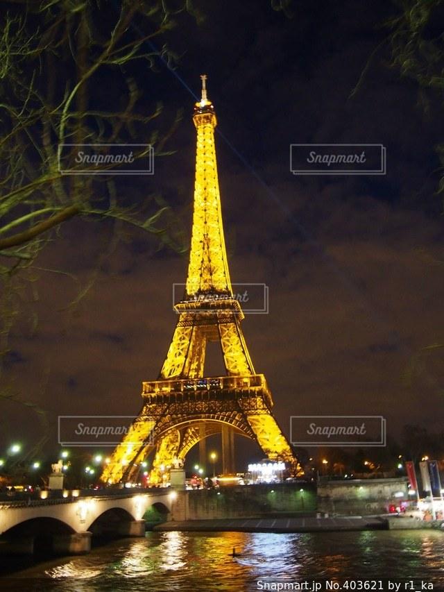 夜景,旅行,フランス,パリ,エッフェル塔,海外旅行