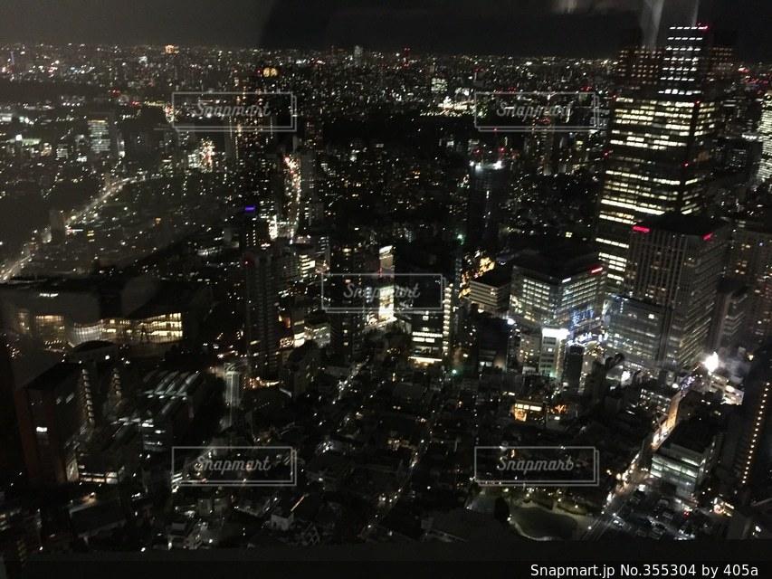 夜景,夜空,ビル,東京