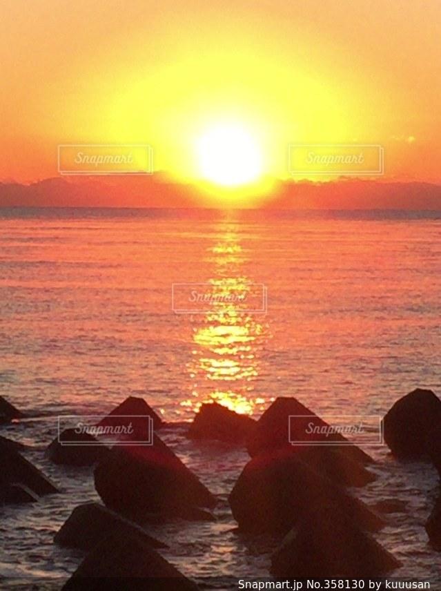 海,太陽,朝日,初日の出,駿河湾