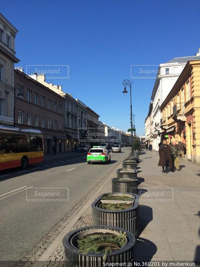街並み,世界遺産,ヨーロッパ,旅行,ポーランド,快晴,海外旅行,ワルシャワ,中欧,新世界通り