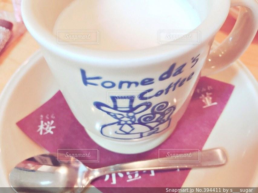 カフェ,紅茶,珈琲,喫茶店,ミルク,コメダ,ミルクティー,コメダ珈琲,小豆,菫,小豆小町