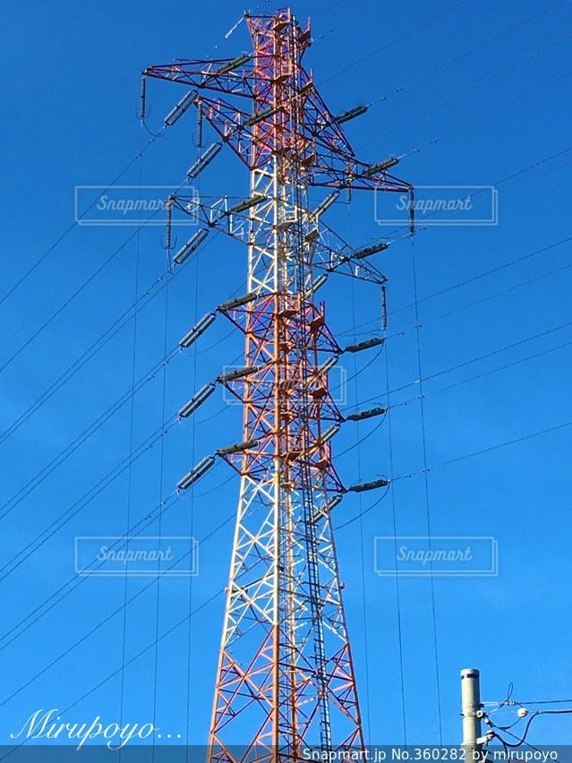 空,鉄塔,電柱,電線