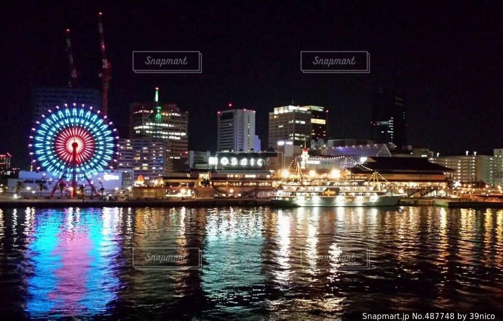 夜景の写真・画像素材[487748]