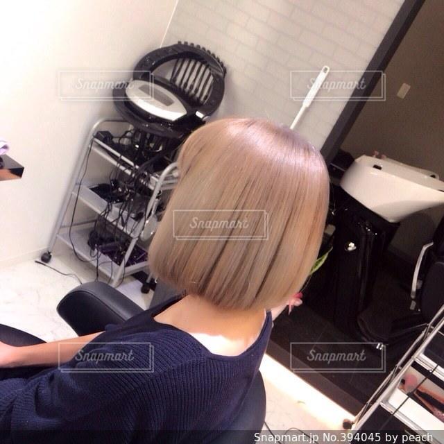 女性,1人,髪型,大人,ボブ,カット,カラー,美容院,美容室