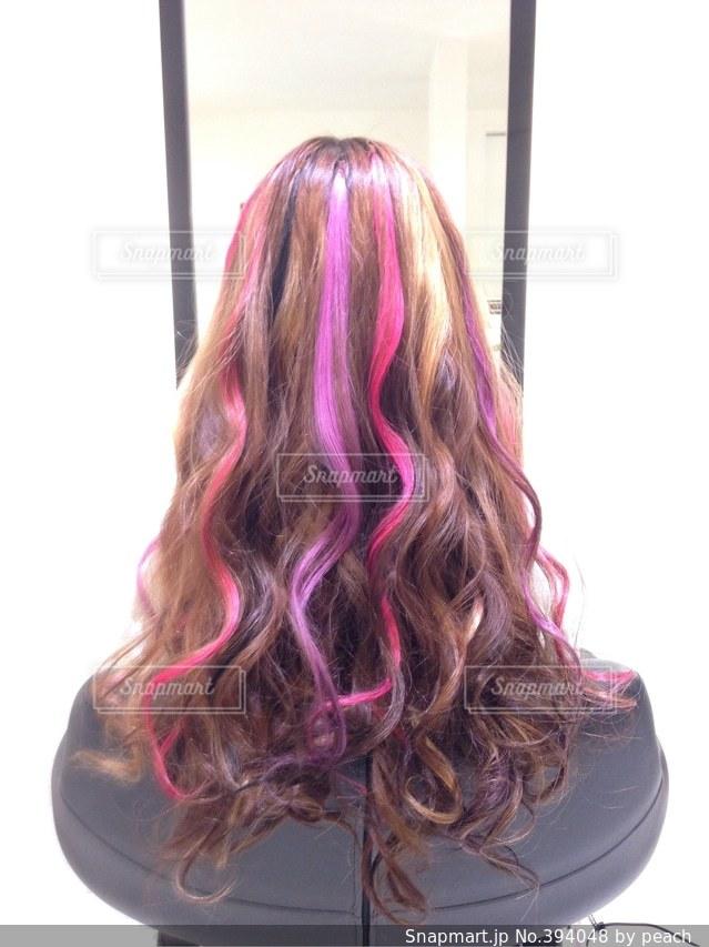 女性,1人,後ろ姿,髪型,大人,巻き髪,カラー,美容院,美容室,ロング,エクステ