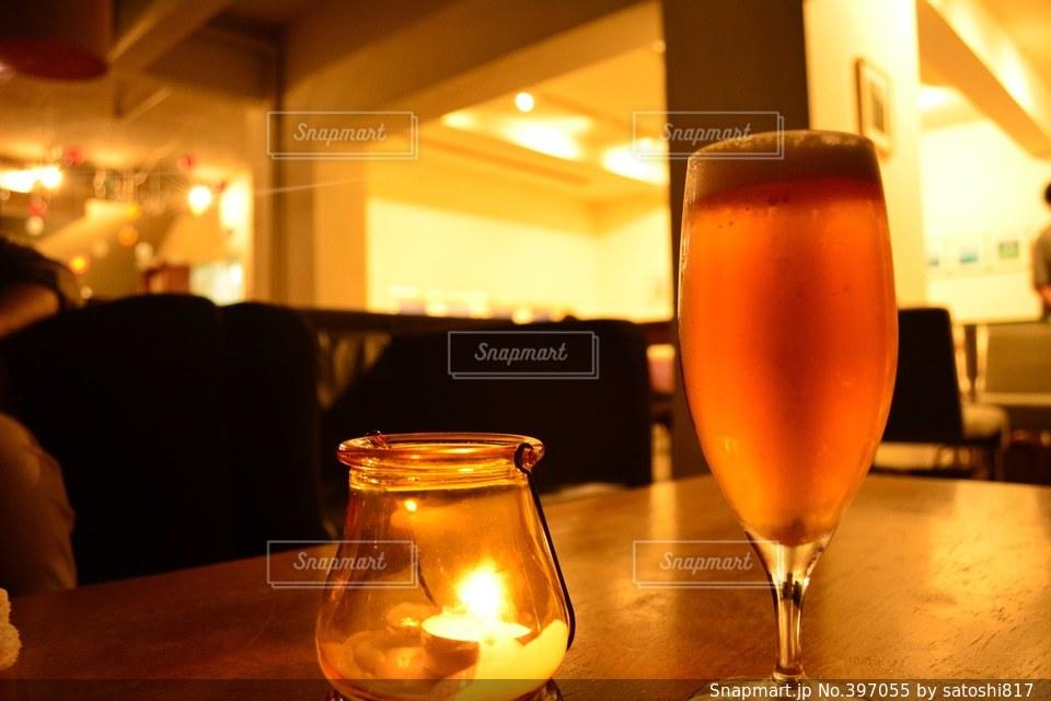 カフェ,夜,京都,水滴,キャンドル,ビール,KYOTO,cafe,バー,BAR