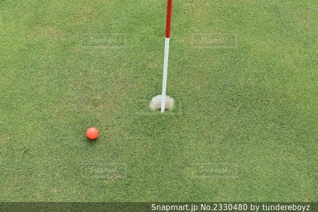 ゴルフのベタピンの写真・画像素材[2330480]