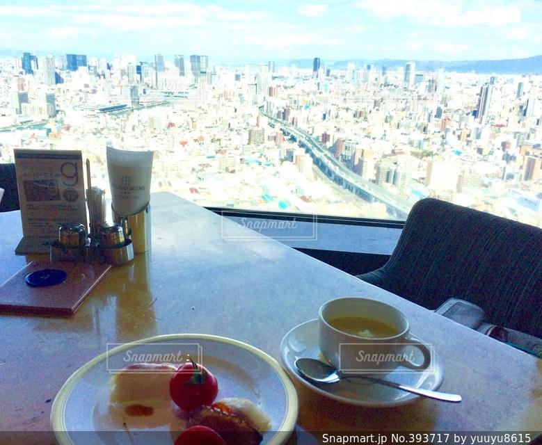ランチ,大阪,大阪ベイタワーホテル,ホテル最上階景色,高層階景色,上空景色,デザート、ビッフェ