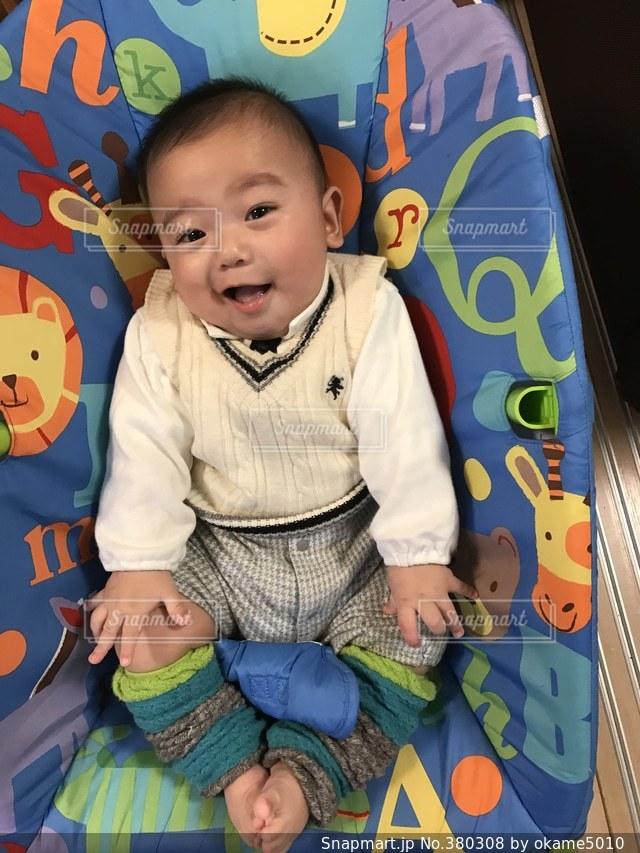 赤ちゃんの写真・画像素材[380308]