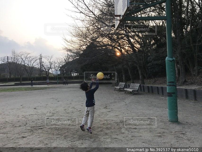 風景,公園,スポーツ,夕焼け,子供