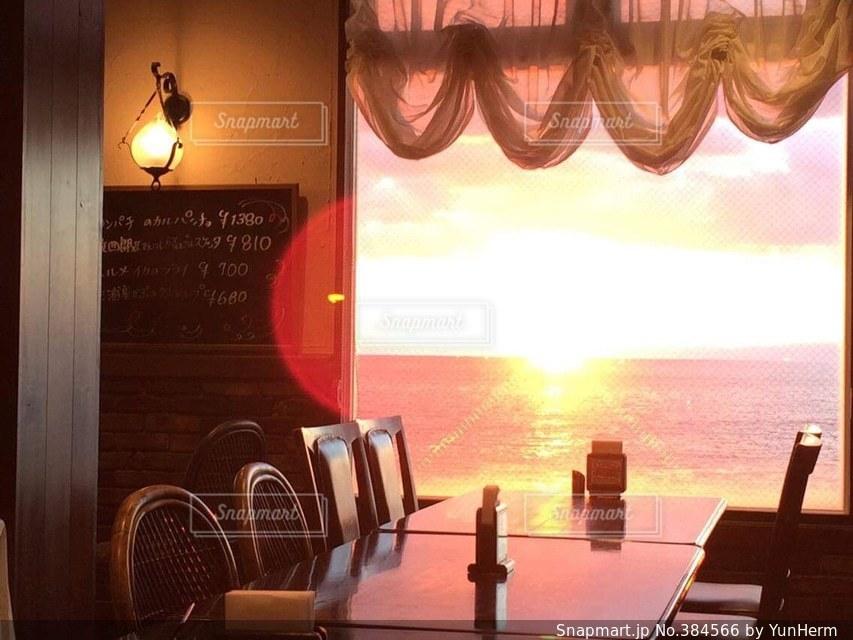 夕日の写真・画像素材[384566]