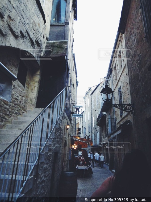 カフェ,風景,建物,階段,田舎,お店,石畳,旅行,旅,フランス,路地,レストラン,村