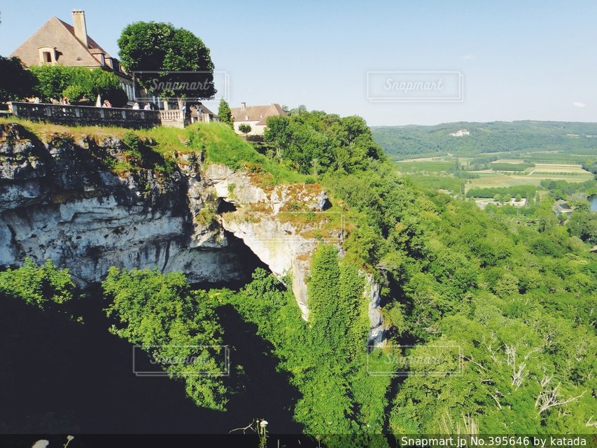 自然,風景,空,建物,緑,田舎,崖,旅行,旅,フランス,村