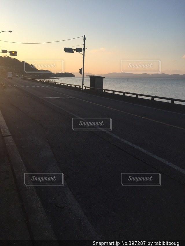 自然,海,夕日,海岸,旅行,旅,写真,日本,素材,旅先,海岸線