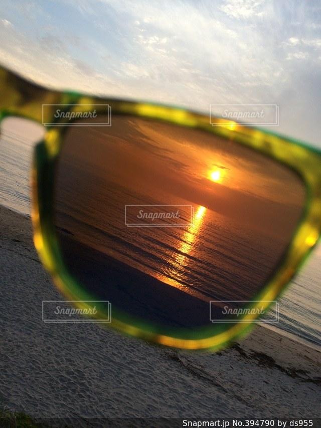 自然,海,夕日,サングラス,サンセット,糸島,グラサン,キレイ