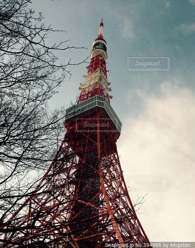 空,東京タワー,東京,きれい,景色