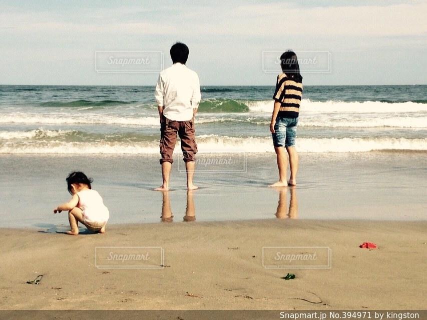 家族,海,きれい,砂浜,浜辺