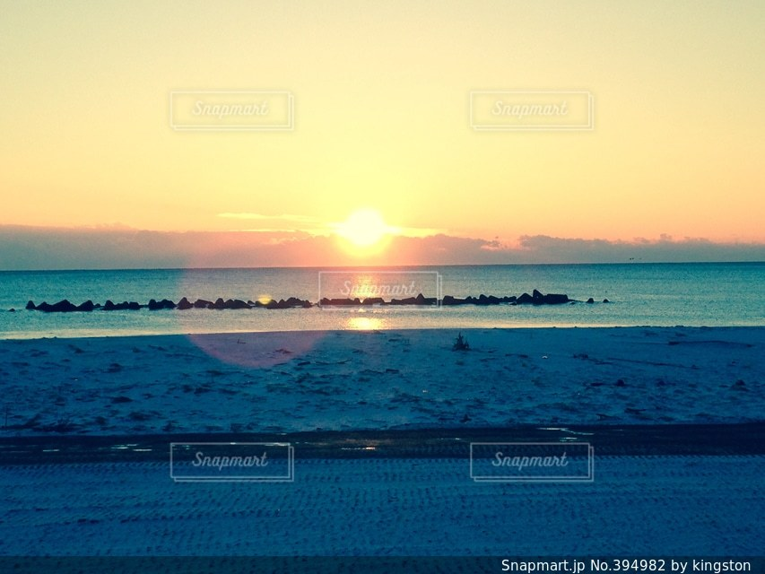 海,朝日,きれい,砂浜,浜辺,初日の出,宮城