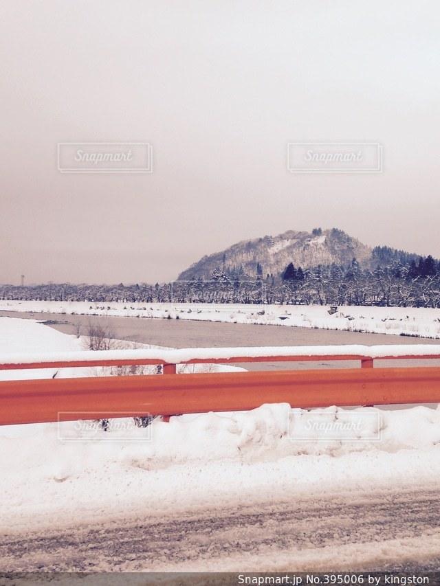 雪,きれい,川,雪景色,秋田,角館