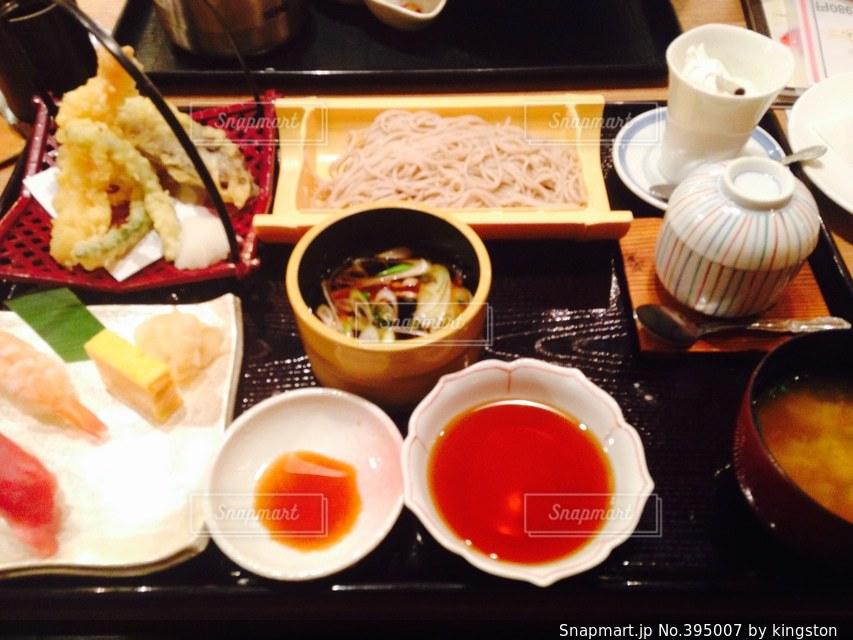 そば,寿司,旅館,宴会,贅沢,天ぷら,鴨そば