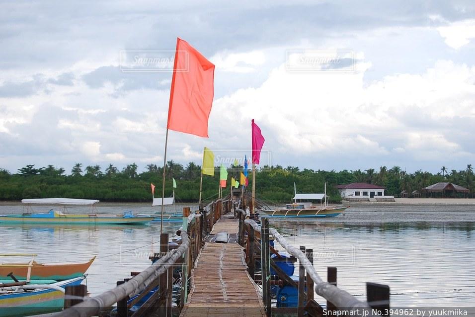 自然,海,橋,木,道,旗,フィリピン,nature,flag,pier