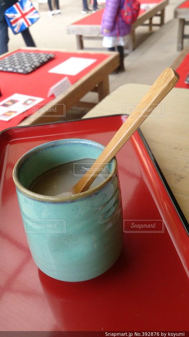 飲み物,赤,温かい,休憩,甘酒,京都旅行,ホッとする