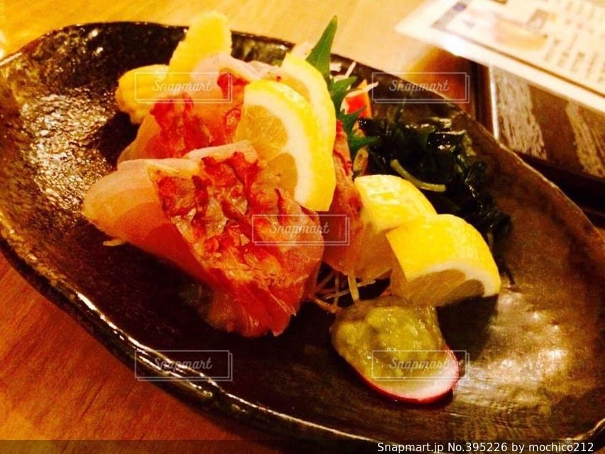 沖縄,レモン,美味しい,刺身,うまい,おじさん,白身,沖縄料理,ウロコ,グルクン
