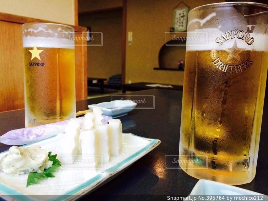 旅行,旅,ビール,おいしい,箱根,わさび,おつまみ,美味い,かまぼこ,板わさ,呑んだくれ