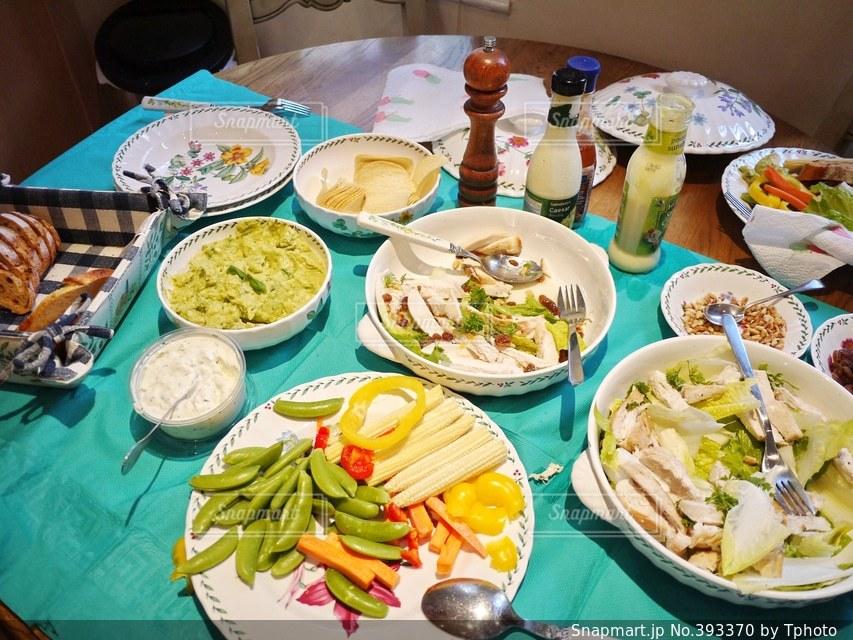 ディナー,海外,イギリス,サラダ,健康,生活,家庭,ダイエット,夜ご飯,ホームステイ
