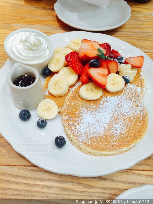 カフェ,パンケーキ,いちご,ホットケーキ,cafe,美味しい,ばなな,イチゴ,バナナ