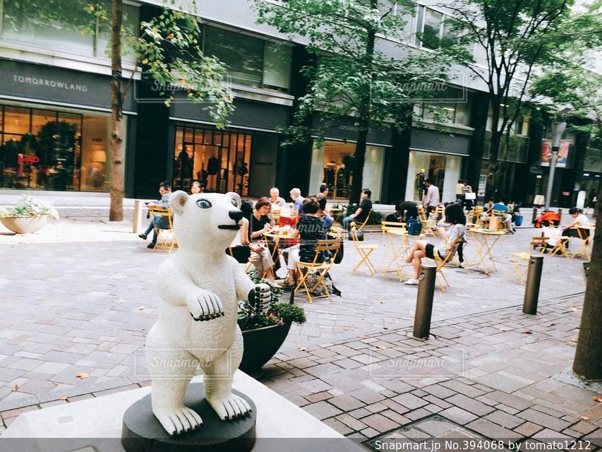 カフェ,風景,街並み,東京,オシャレ,置物,cafe,しろくま,クマ,おしゃれ,外カフェ