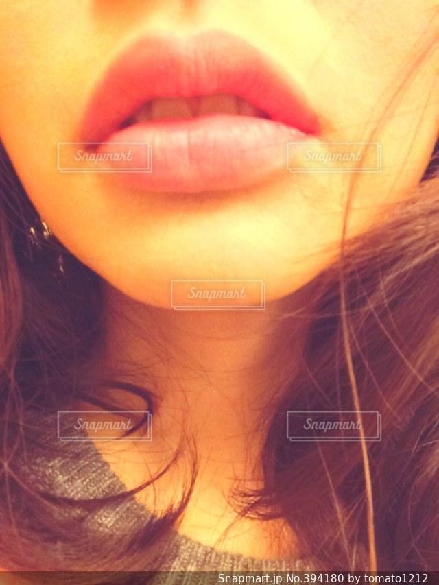 女性,ピンク,唇,口