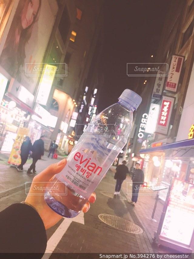 夜,水,韓国,evian