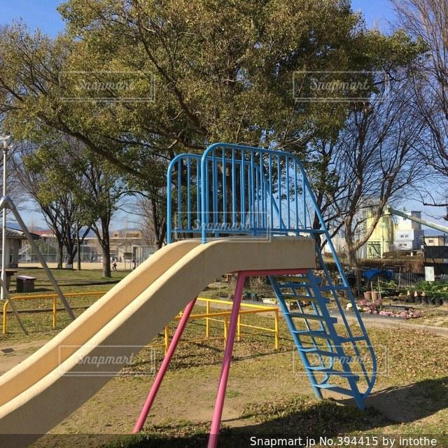 公園,春,滑り台,すべり台,遊び,遊具,スベリ台