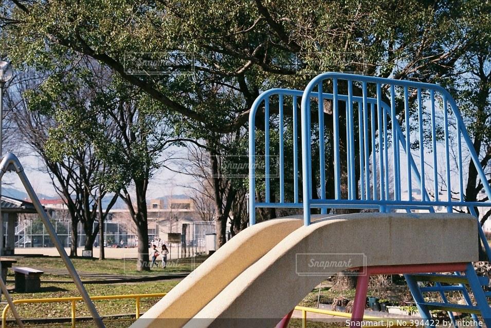 公園,春,滑り台,すべり台,遊具,スベリ台