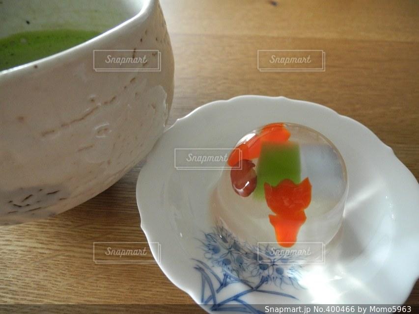 スイーツ,抹茶,和,涼しげ,金魚,ゼリー,美味そう,カテキン