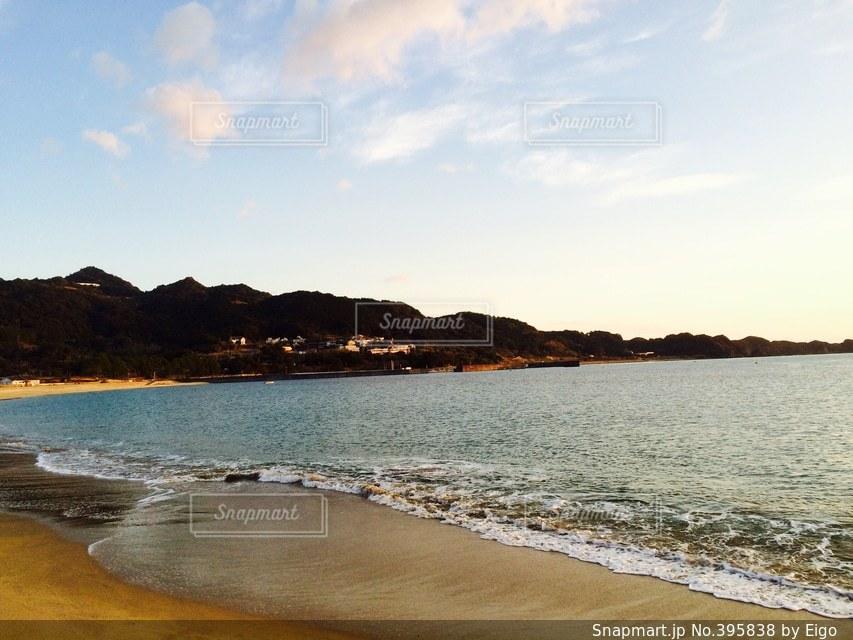 風景,海水浴場,朝方