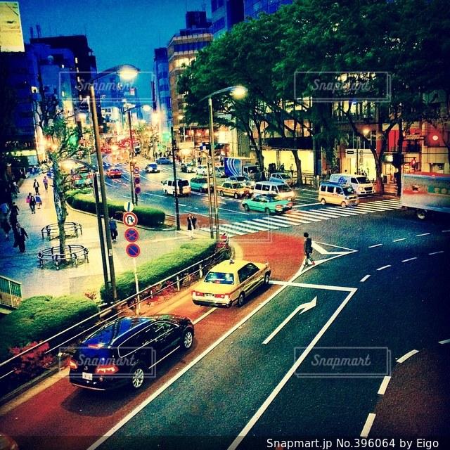 風景,東京,交差点,渋谷