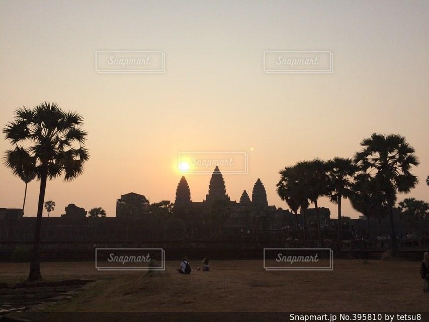 風景,朝日,景色,旅行,遺跡,旅,日の出,カンボジア,ひとり旅,アンコールワット,シェムリアップ,バックパッカー,サンライズ,春分の日