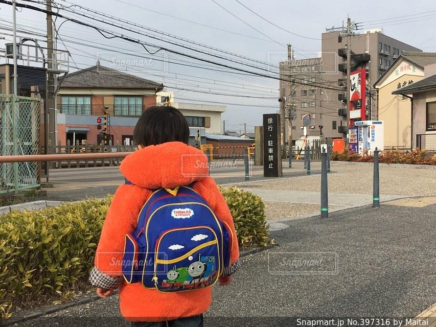電車,子供,幼児,お散歩,リュック,近鉄