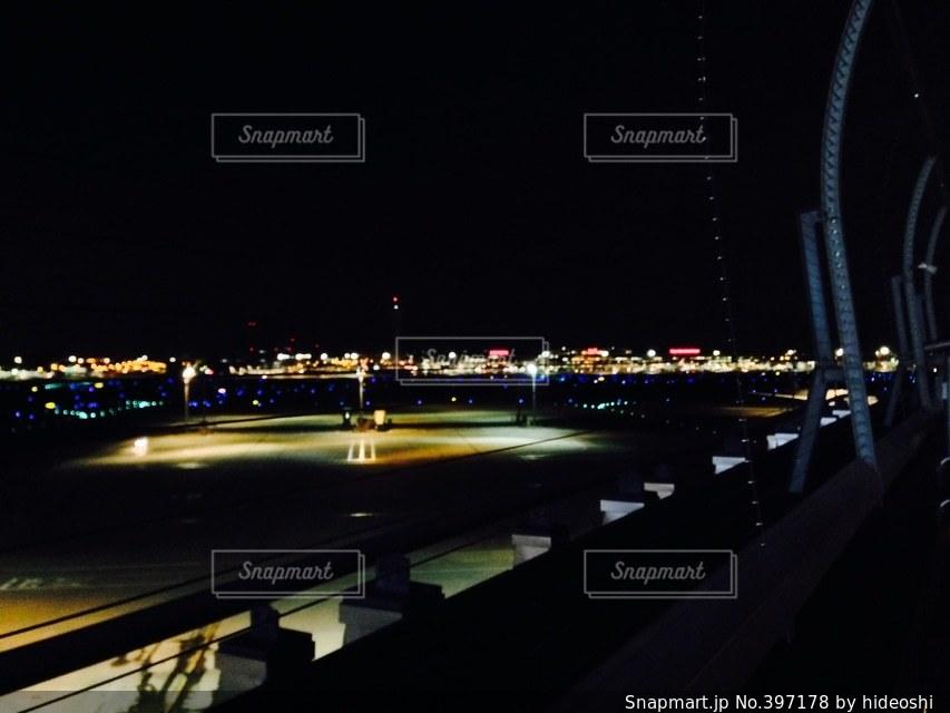 風景,夜景,東京,空港,羽田空港
