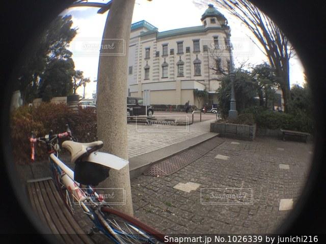 街の通りのビューの写真・画像素材[1026339]