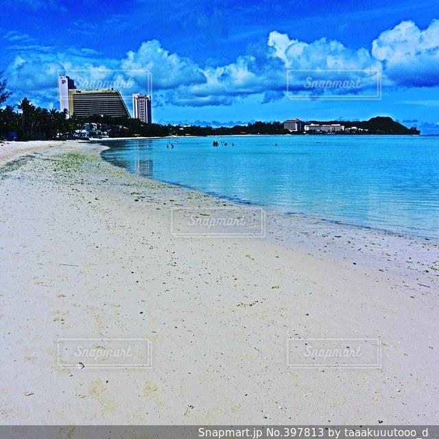 海,海外,ビーチ,綺麗,砂浜,美しい,グアム,リゾート,海外旅行