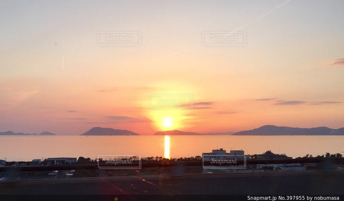 風景,海,空,夕焼け