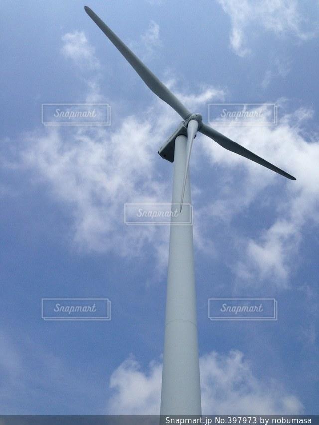 風景,空,風車,風,風力発電