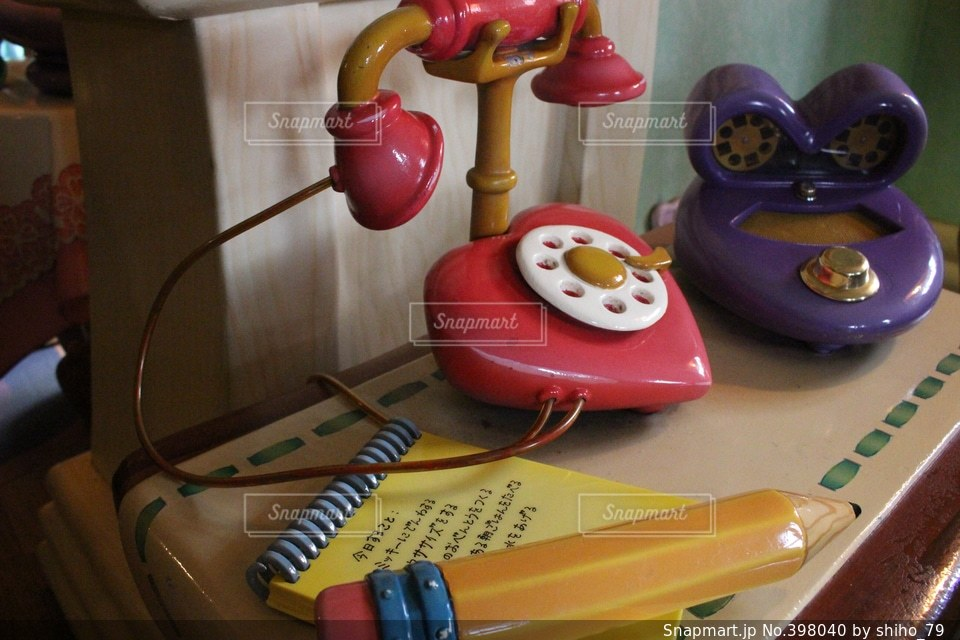 ピンク,可愛い,キャラクター,メモ,電話,ディズニー,一眼レフ,ミニーマウス,ミニーちゃん,ミニーちゃんのお家
